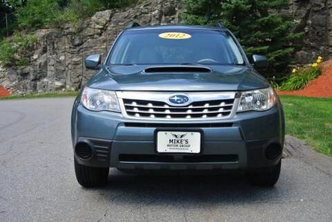 2012 Subaru Forester for sale at Mike's Motor Group in Tyngsboro MA