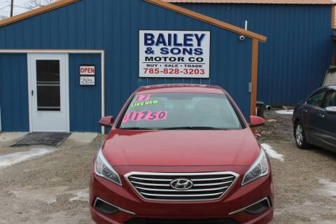 2017 Hyundai Sonata for sale at Bailey & Sons Motor Co in Lyndon KS