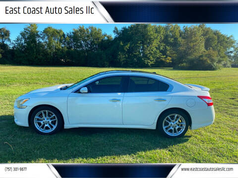 2011 Nissan Maxima for sale at East Coast Auto Sales llc in Virginia Beach VA