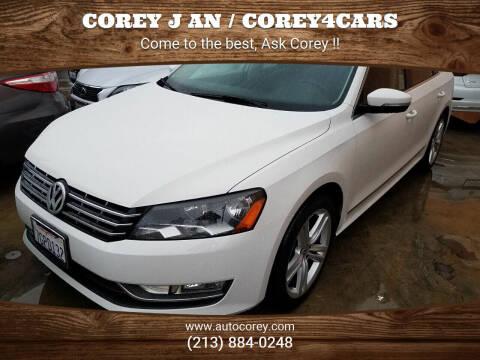 2014 Volkswagen Passat for sale at WWW.COREY4CARS.COM / COREY J AN in Los Angeles CA