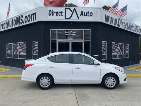 2018 Nissan Versa for sale at Direct Auto in D'Iberville MS
