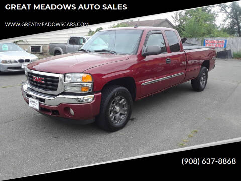 2006 GMC Sierra 1500 for sale at GREAT MEADOWS AUTO SALES in Great Meadows NJ