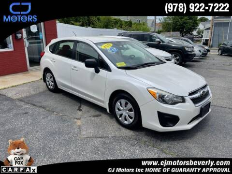 2014 Subaru Impreza for sale at CJ Motors Inc. in Beverly MA