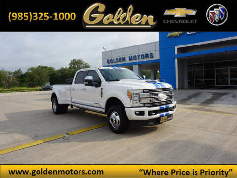 2017 Ford F-350 Super Duty for sale at GOLDEN MOTORS in Cut Off LA