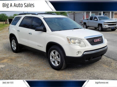 2008 GMC Acadia for sale at Big A Auto Sales Lot 2 in Florence SC