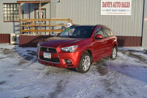 2012 Mitsubishi Outlander Sport for sale at Dave's Auto Sales in Winthrop MN