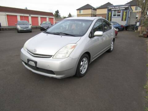 2004 Toyota Prius for sale at ARISTA CAR COMPANY LLC in Portland OR