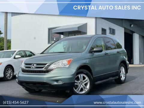 2010 Honda CR-V for sale at Crystal Auto Sales Inc in Nashville TN