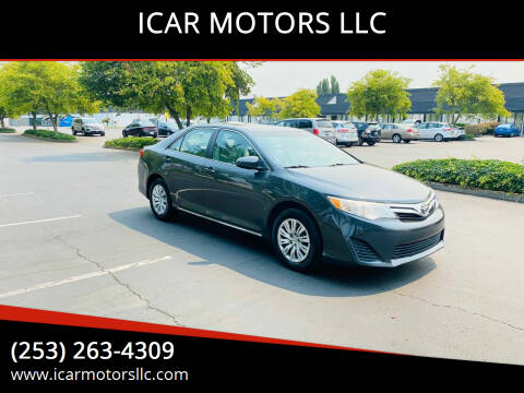 2012 Toyota Camry for sale at ICAR MOTORS LLC in Federal Way WA