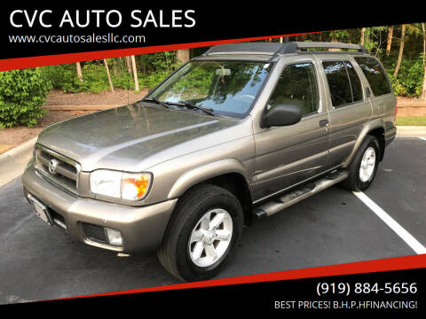 2003 Nissan Pathfinder for sale at CVC AUTO SALES in Durham NC