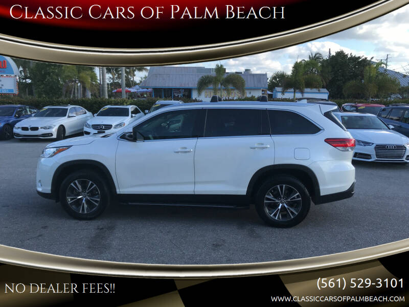 2019 Toyota Highlander for sale at Classic Cars of Palm Beach in Jupiter FL