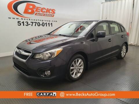 2012 Subaru Impreza for sale at Becks Auto Group in Mason OH