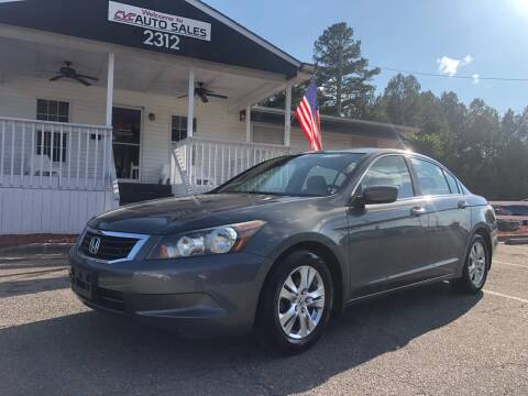 2008 Honda Accord for sale at CVC AUTO SALES in Durham NC