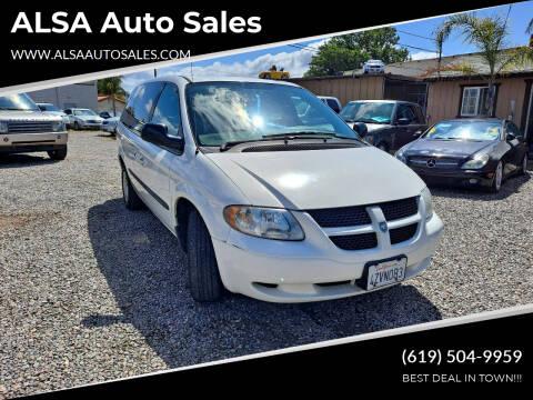 2003 Dodge Grand Caravan for sale at ALSA Auto Sales in El Cajon CA