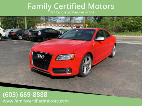 2011 Audi S5 for sale at Family Certified Motors in Manchester NH
