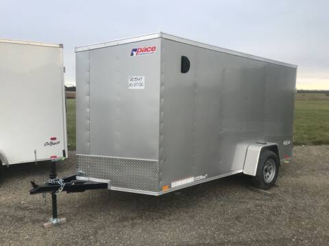 2021 Pace American 6x12 Single Axle V-nose for sale at Forkey Auto & Trailer Sales in La Fargeville NY