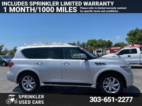 2013 Infiniti QX56 for sale at Sprinkler Used Cars in Longmont CO