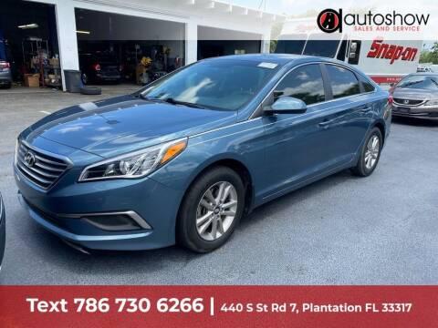 2017 Hyundai Sonata for sale at AUTOSHOW SALES & SERVICE in Plantation FL