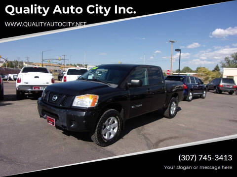 2008 Nissan Titan for sale at Quality Auto City Inc. in Laramie WY