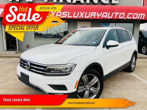 2018 Volkswagen Tiguan for sale at Texas Luxury Auto in Cedar Hill TX