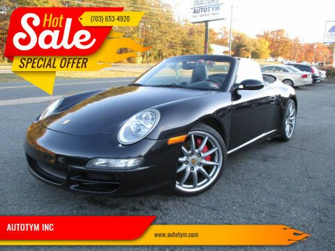 2008 Porsche 911 for sale at AUTOTYM INC in Fredericksburg VA