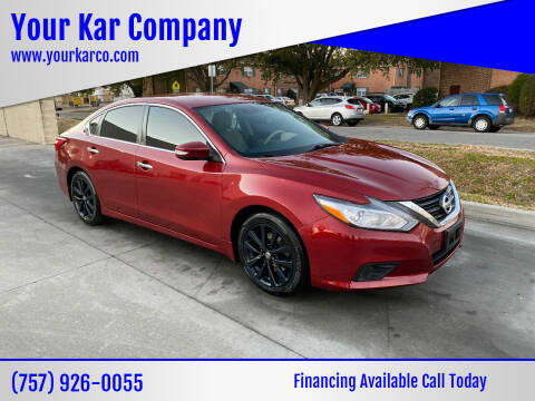 2016 Nissan Altima for sale at Your Kar Company in Norfolk VA