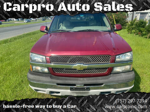 2005 Chevrolet Avalanche for sale at Carpro Auto Sales in Chesapeake VA