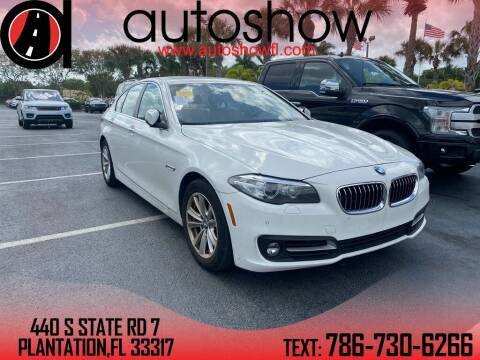 2015 BMW 5 Series for sale at AUTOSHOW SALES & SERVICE in Plantation FL
