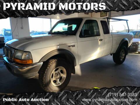 1999 Ford Ranger for sale at PYRAMID MOTORS - Pueblo Lot in Pueblo CO