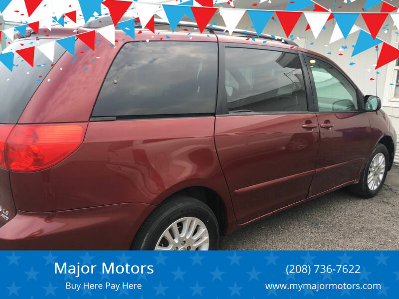 2008 Toyota Sienna for sale at Major Motors in Twin Falls ID
