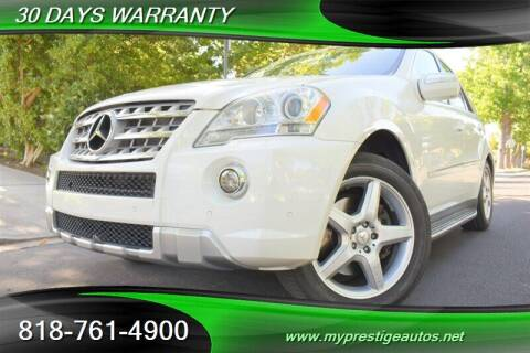 2010 Mercedes-Benz M-Class for sale at Prestige Auto Sports Inc in North Hollywood CA