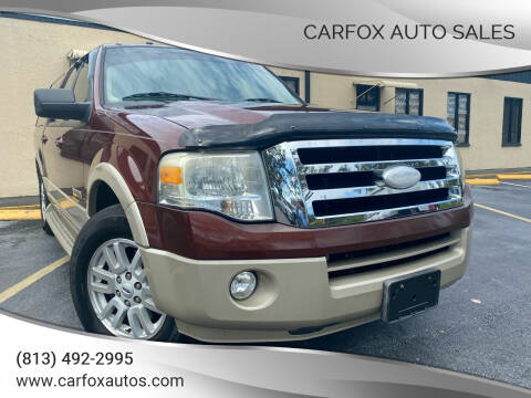 2007 Ford Expedition EL for sale at Carfox Auto Sales in Tampa FL