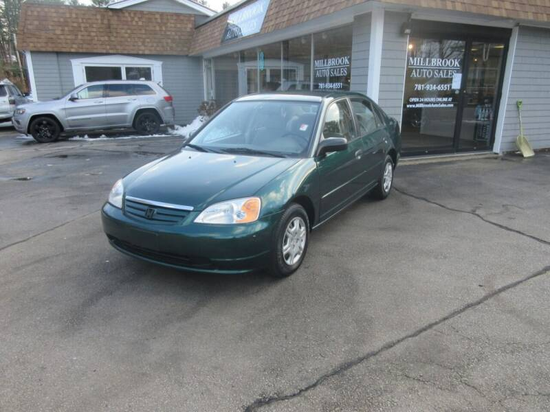 2001 Honda Civic for sale at Millbrook Auto Sales in Duxbury MA