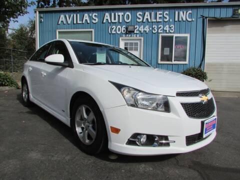2013 Chevrolet Cruze for sale at Avilas Auto Sales Inc in Burien WA