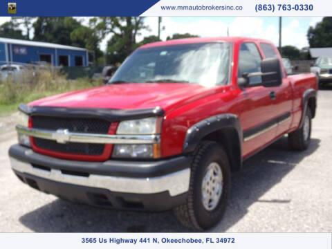 2003 Chevrolet Silverado 1500 for sale at M & M AUTO BROKERS INC in Okeechobee FL