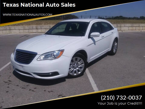 2014 Chrysler 200 for sale at Texas National Auto Sales in San Antonio TX