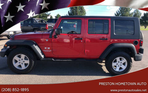 2008 Jeep Wrangler Unlimited for sale at Preston Hometown Auto in Preston ID