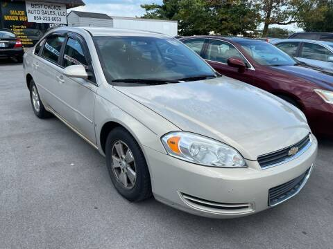 2008 Chevrolet Impala for sale at Best Choice Auto Sales in Lexington KY