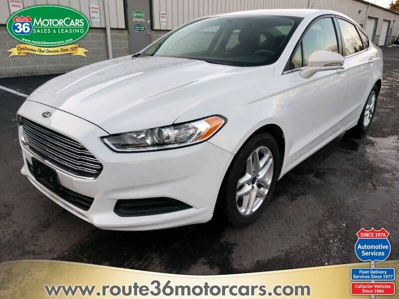 2016 Ford Fusion for sale at ROUTE 36 MOTORCARS in Dublin OH