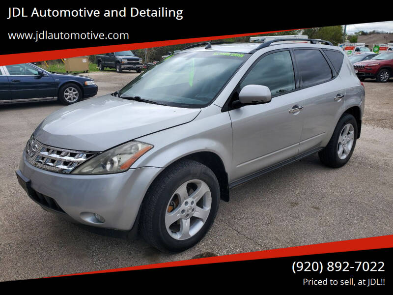 2004 Nissan Murano for sale at JDL Automotive and Detailing in Plymouth WI