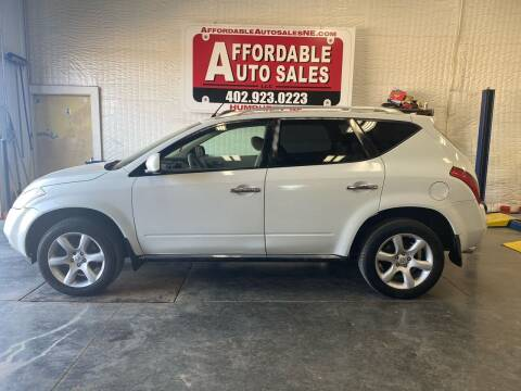 2007 Nissan Murano for sale at Affordable Auto Sales in Humphrey NE