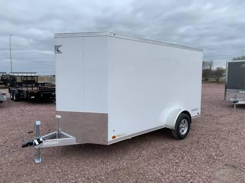 2021 ATC Raven 6x12+2 White #2643 for sale at Prairie Wind Trailers, LLC in Harrisburg SD