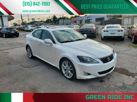2007 Lexus IS 250 for sale at Green Ride Inc in Nashville TN