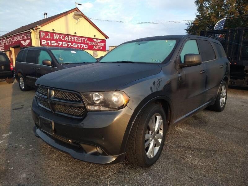 2011 Dodge Durango for sale at P J McCafferty Inc in Langhorne PA