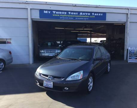 2005 Honda Accord for sale at My Three Sons Auto Sales in Sacramento CA