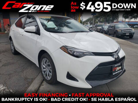 2017 Toyota Corolla for sale at Carzone Automall in South Gate CA