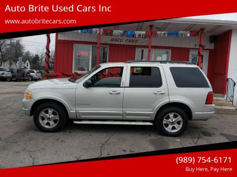2002 Ford Explorer for sale at Auto Brite Used Cars Inc in Saginaw MI