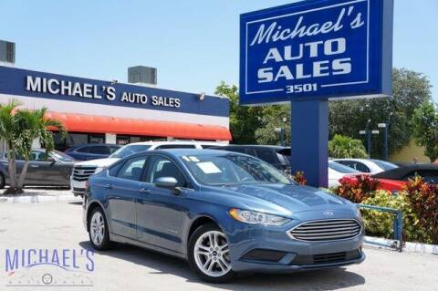 2018 Ford Fusion Hybrid for sale at Michael's Auto Sales Corp in Hollywood FL