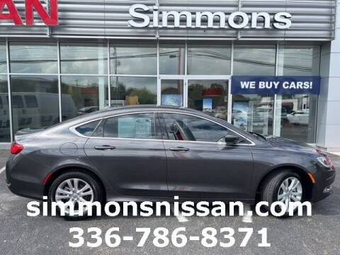 2017 Chrysler 200 for sale at SIMMONS NISSAN INC in Mount Airy NC