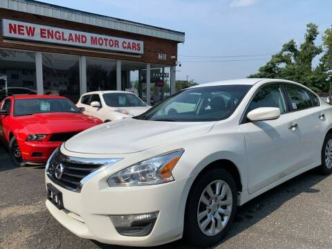2015 Nissan Altima for sale at New England Motor Cars in Springfield MA